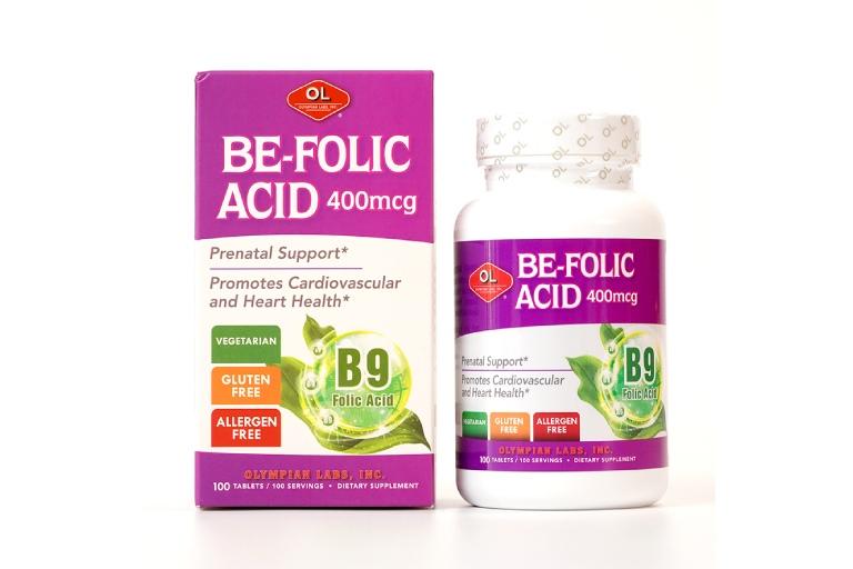 viên uống Olympian Labs Be-Folic Acid 400mcg