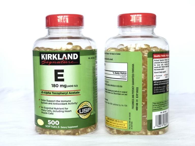 Viên uống Kirkland Vitamin E 400 IU