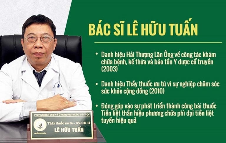 Bác sĩ Lê Hữu Tuấn - Một trong những chuyên gia hàng đầu trong lĩnh vực YHCT