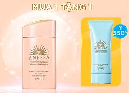 Sữa chống nắng dịu nhẹ cho da nhạy cảm và trẻ em Anessa SPF 50+ PA++++