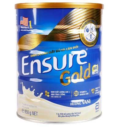 Sữa Ensure Gold là sản phẩm được nghiên cứu và sản xuất bởi thương hiệu Abbott Hoa Kỳ. Sữa phù hợp với những người cao tuổi, người sau ốm, người cần dung nạp hàm lượng dưỡng chất cao