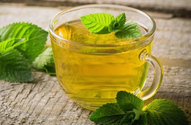 giảm cân với trà bạc hà