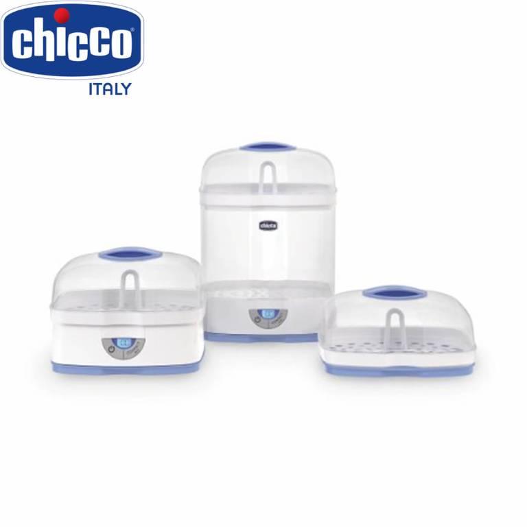 Chicco có cơ chế hoạt động bằng cách dùng hơi nước để tiệt trùng, làm cho chất lượng bình sữa không bị tác động tiêu cực